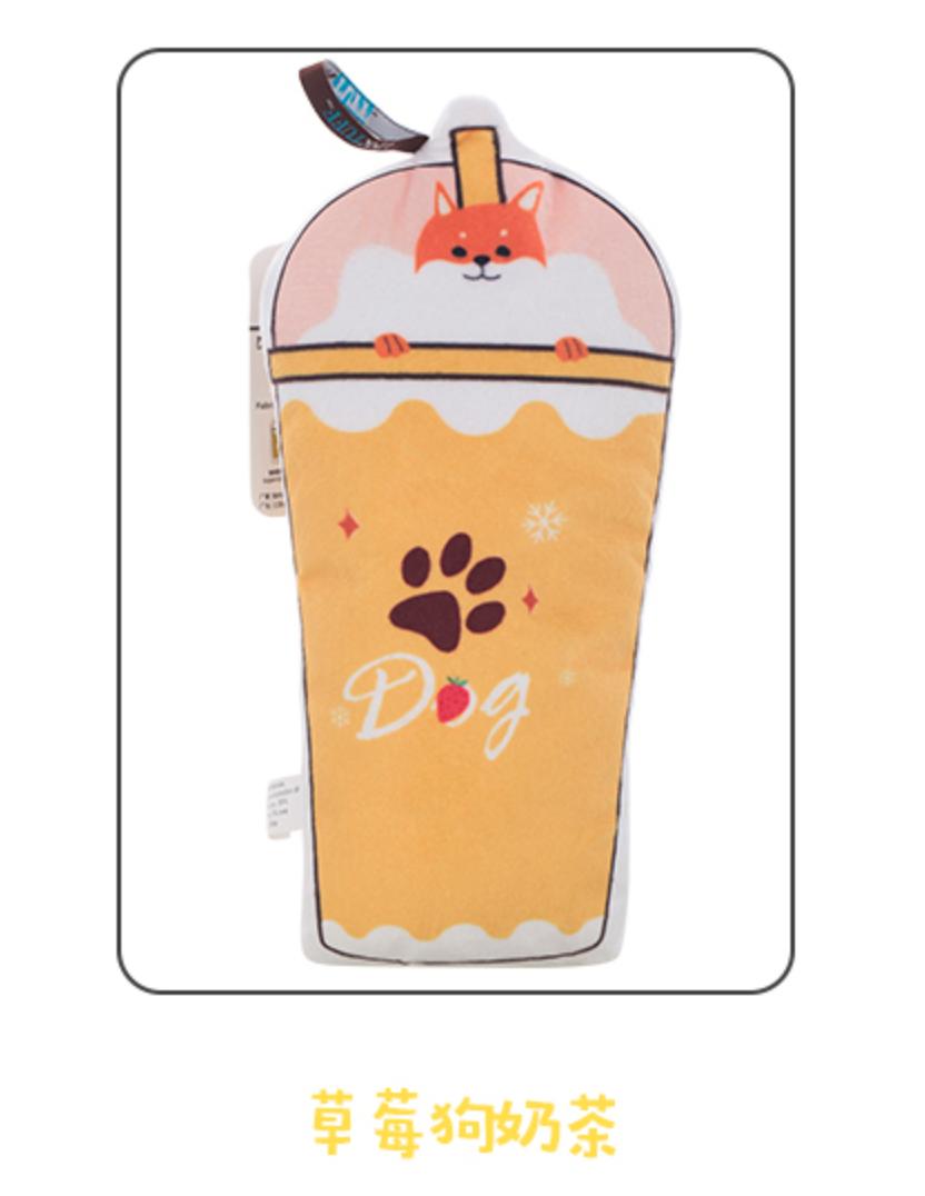 Linktuff Milk Tea Plushie Pet Toy / Dog Toy 宠物玩具奶茶系列 (Strawberry & Doggie)
