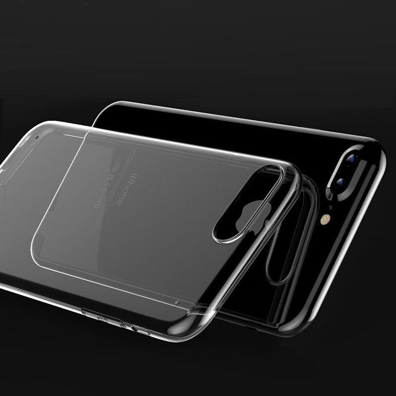 iPh Soft Cover - ULTRAthin Soft TPU Transparent Shockroof Case For iPh 7 Plus - Cases & Covers