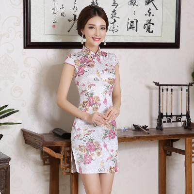 (Pre Order 14 DAYS)  JYS Fashion Women Cheongsam Collection 249-478A (Floral) S