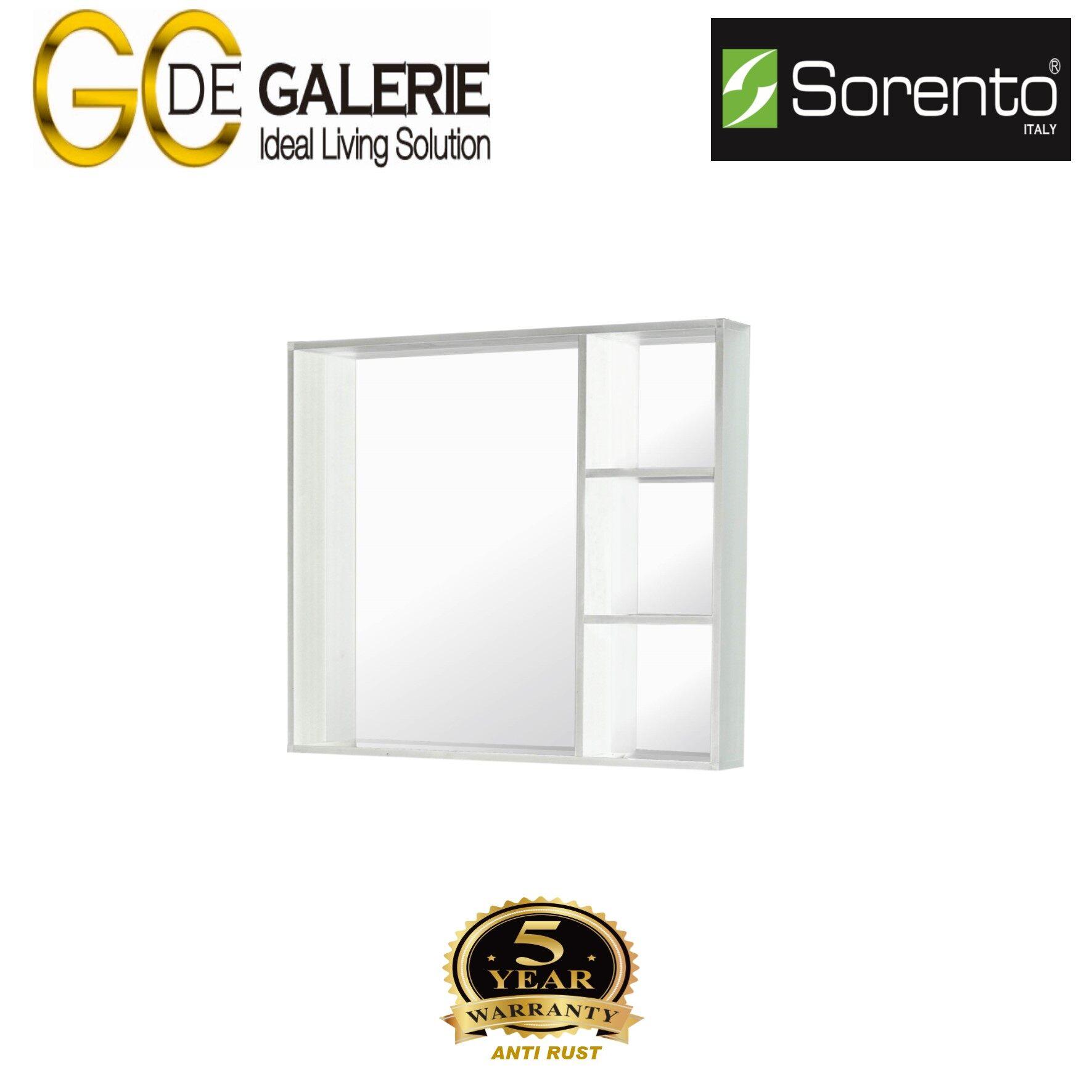 Sorento SRTMCB8081-WH Bathroom Aluminium Mirror Cabinet