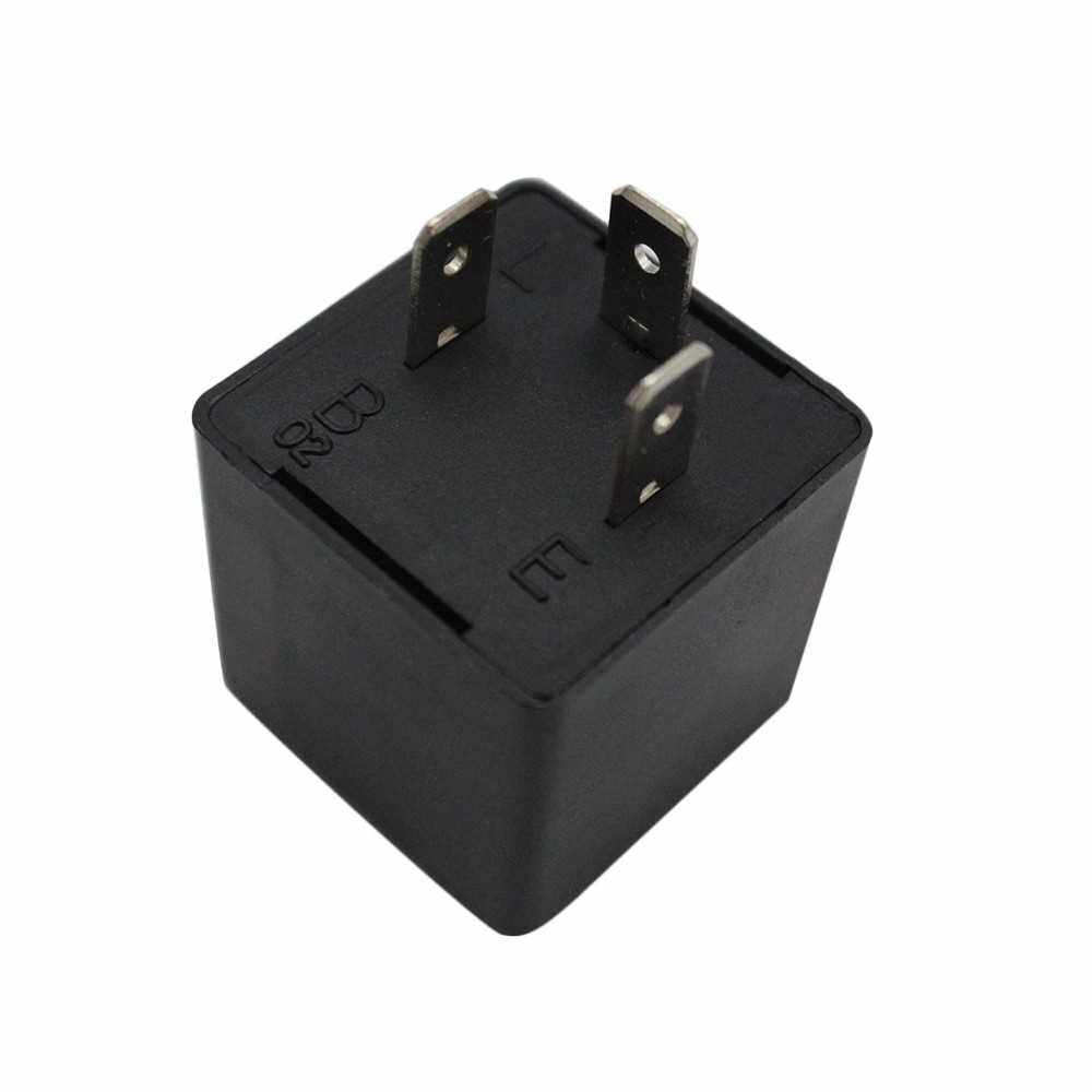 3-Pin LED Flasher Relay for LED Turn Signal Light Bulbs Fix LED Light Turn Signal Hyper Flash CF13 CF13JL EP34 (Standard)