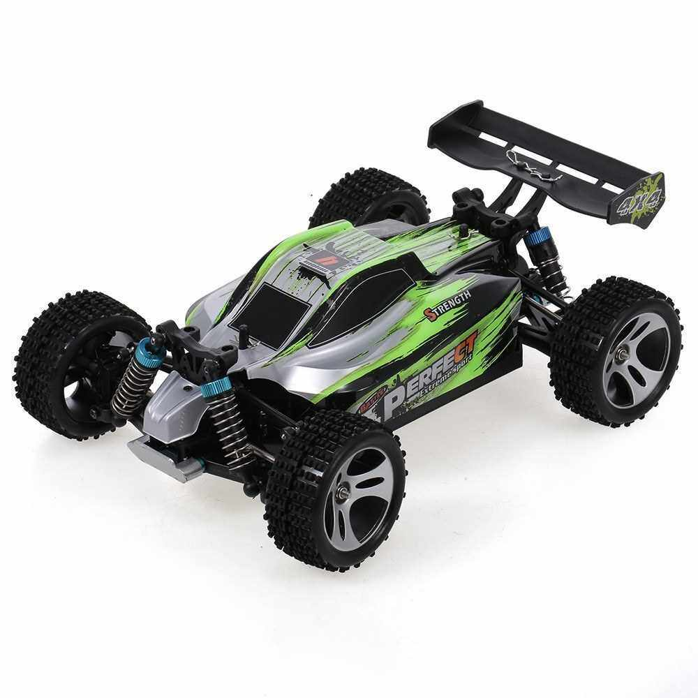 WLtoys A959-A RC Car 2.4G 1/18 4WD 35KM/h Racing Buggy Car High Speed Vehicle Off Road Truck RTR (Green)