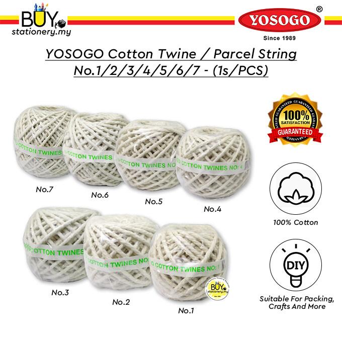 YOSOGO Cotton Twine / Parcel String No.1/2/3/4/5/6/7 - (1s/PCS)