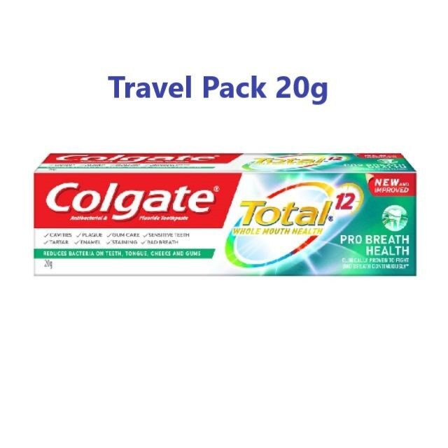 COLGATE Total 12 Pro Breath Health Toothpaste 20g (Travel Pack)