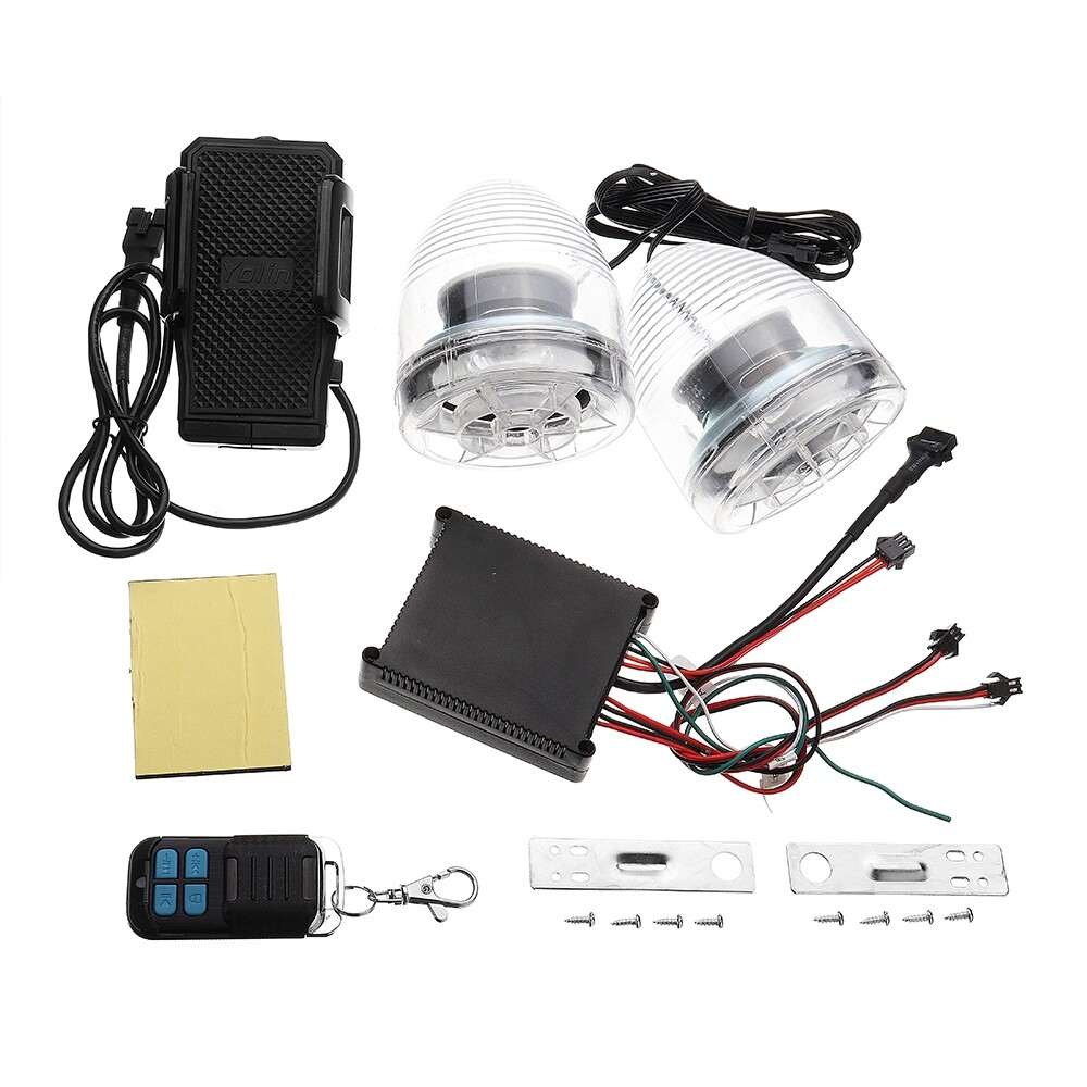 Car Radios - Motorcycle Alarm Sound System Amplifier MP3 Speakers Anti-Theft System+FM+USB/sd - Electronics