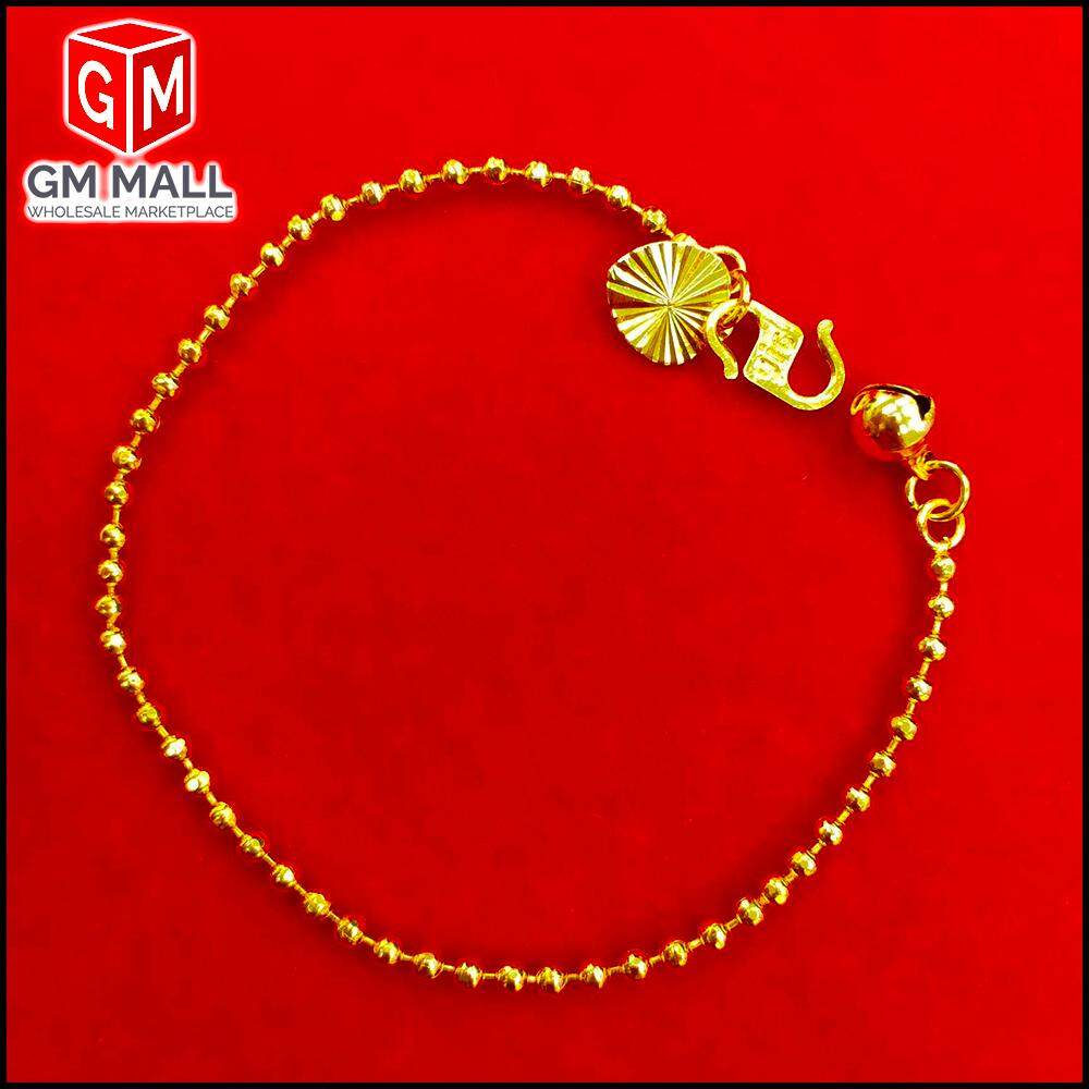 Emas Korea Jewellery - Rantai Tangan Bebola Biji Gold Plated (Bracelet EK-2004-6)