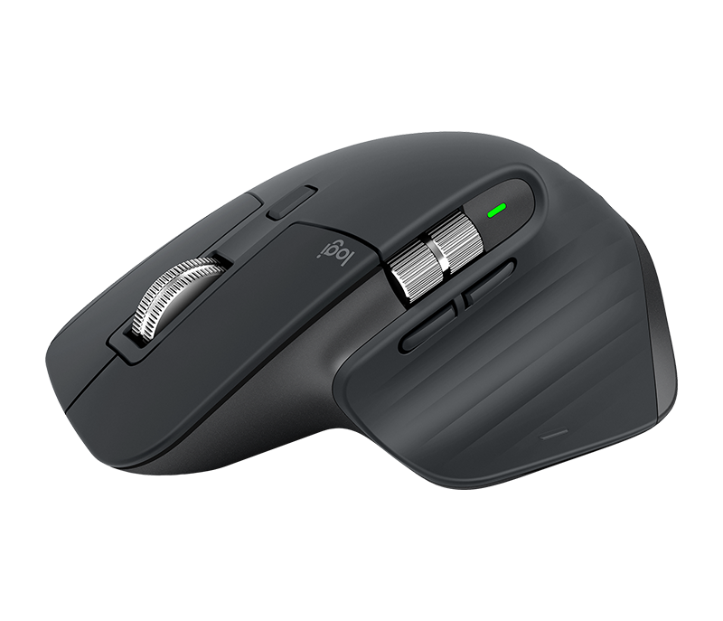 Logitech MX Master 3 Advanced Wireless Mouse with Advanced 2.4GHz Wireless or USB Receiver Connection, 200 to 4000 Dpi, Auto-Shift Scroll Wheel, Easy-Switch Enabled, Multi OS