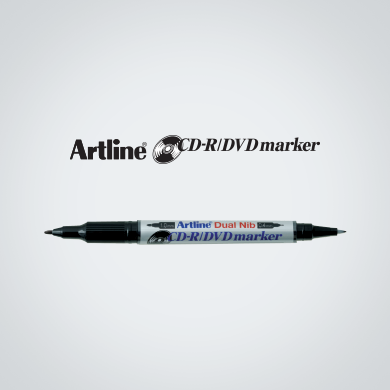 Artline CD-R / DVD Marker (Dual Nib) (EK-841T) Black