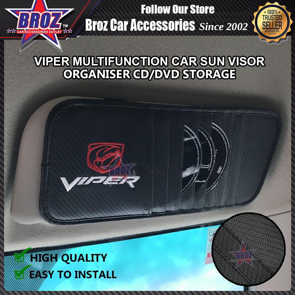 Broz DVD CD Storage Car Sun Visor VIPER Multifunction