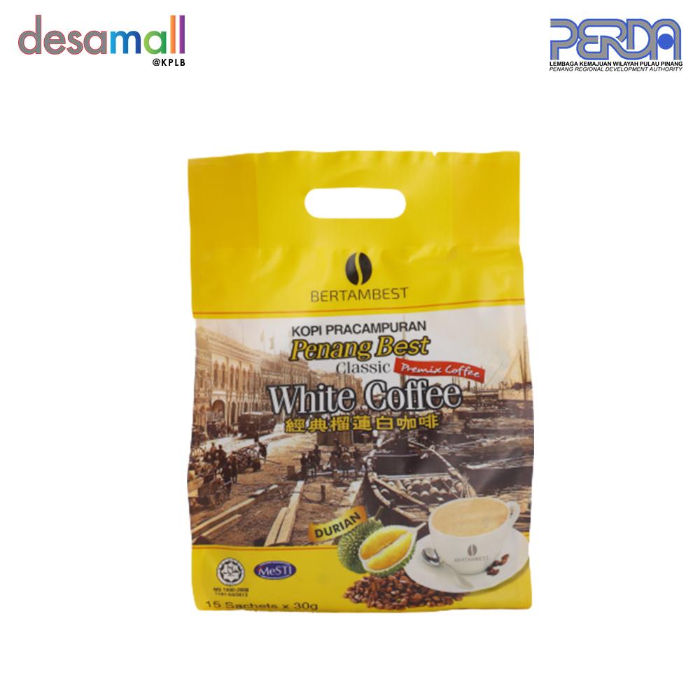 BERTAMBEST Penang Best White Coffee Classic - Durian (15 sachets x 30g)
