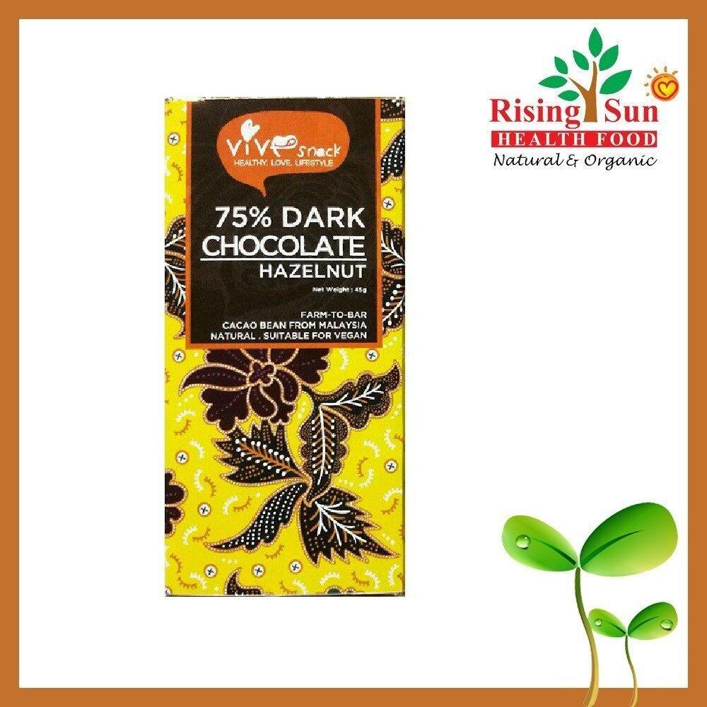 ViVe Snack 75% Dark Chocolate (Hazelnut) 45g