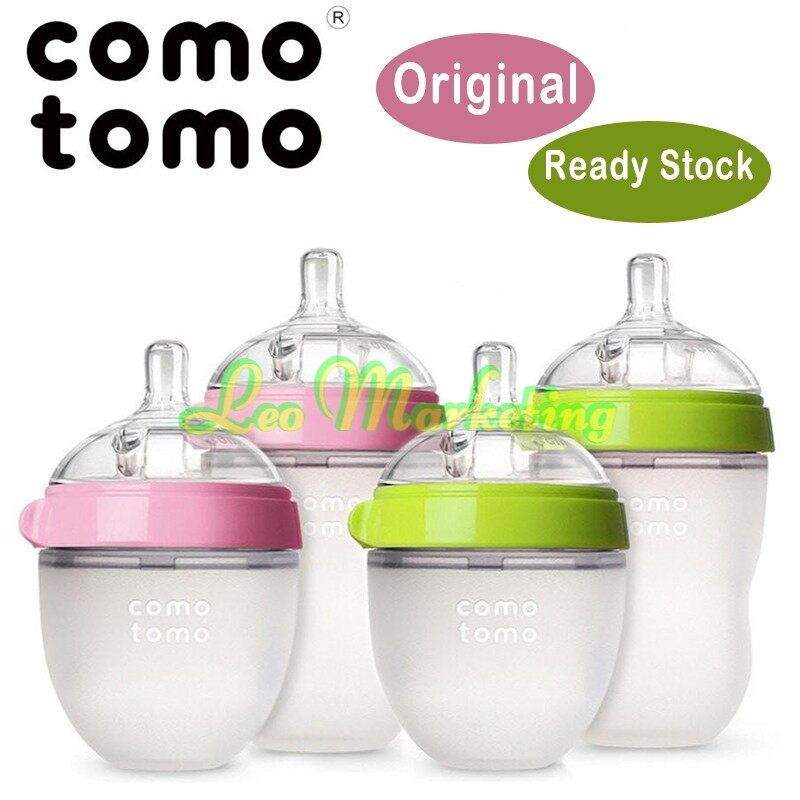 Leo Marketing 100%Original Comotomo Natural Feel Baby Bottle 8oz 250ml / 150ml, Baby Feeder, Feeding Bottle