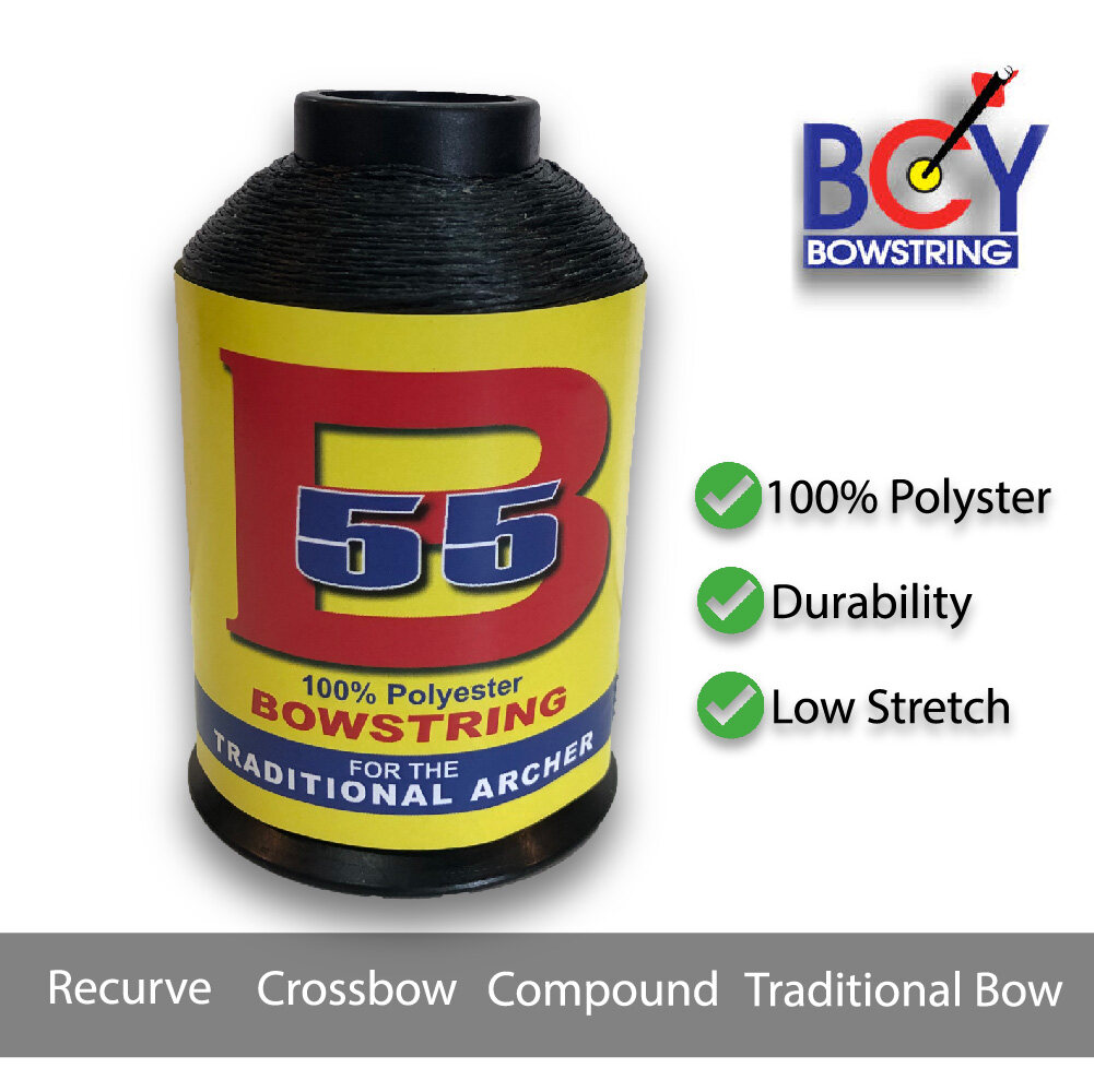 BCY B55 Bowstring 100% Polyster for Traditional Archer 1/4 lb