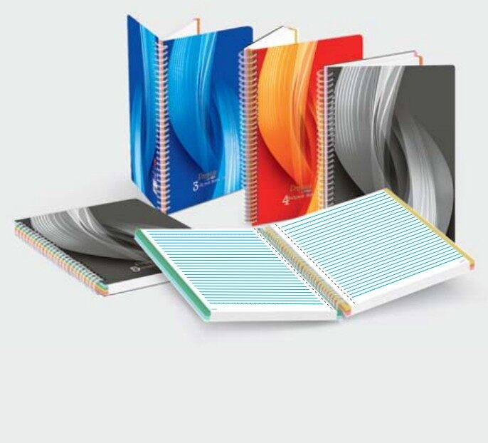 CAMPAP CA3253 A5 5 subject 60gms 160p SPIRAL SUBJECT NOTE BOOK x 5pcs