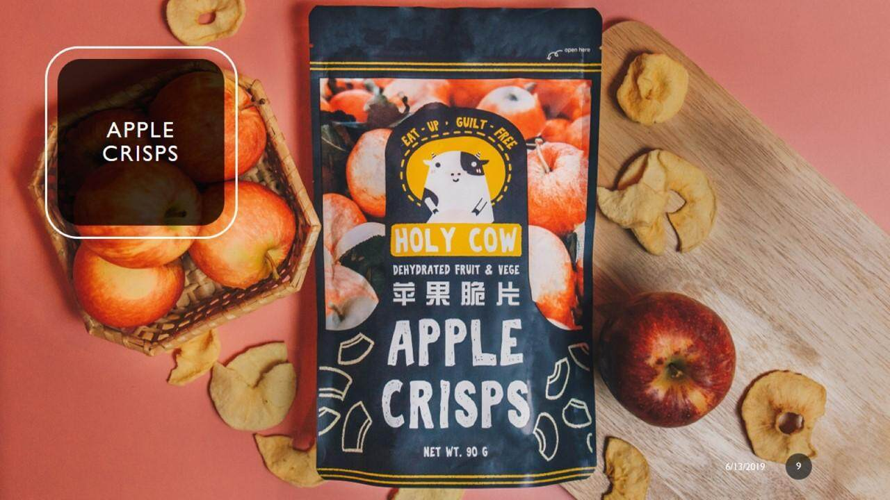 [MPLUS] HOLY COW APPLE CRISPS 90G