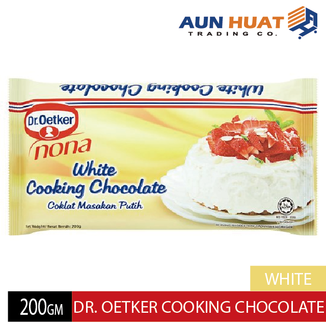 DR OETKER NONA WHITE COOKING CHOCOLATE 200GM