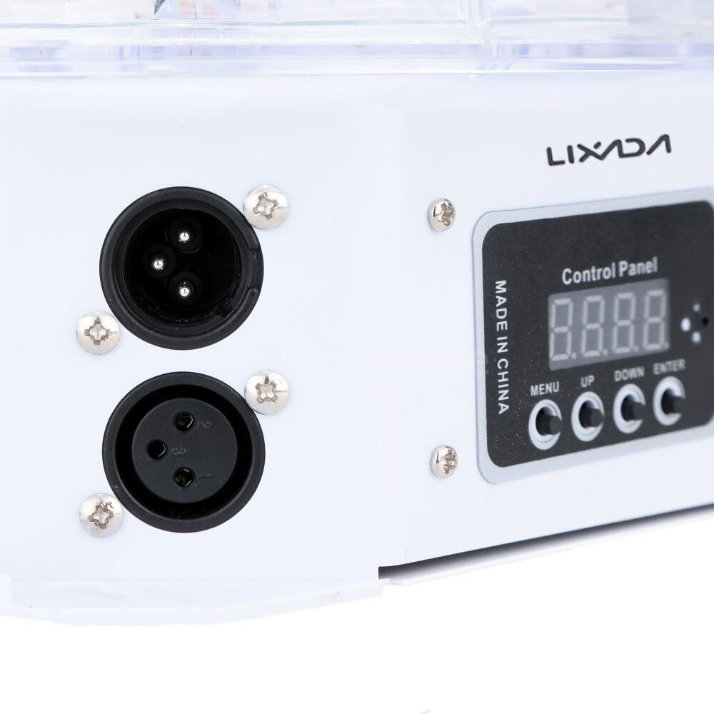 Lighting - DMX-512 7 Channels LED Rotating Strobe RGBPYW Crystal Magic Ball Effect Par Light Disco DJ - UK