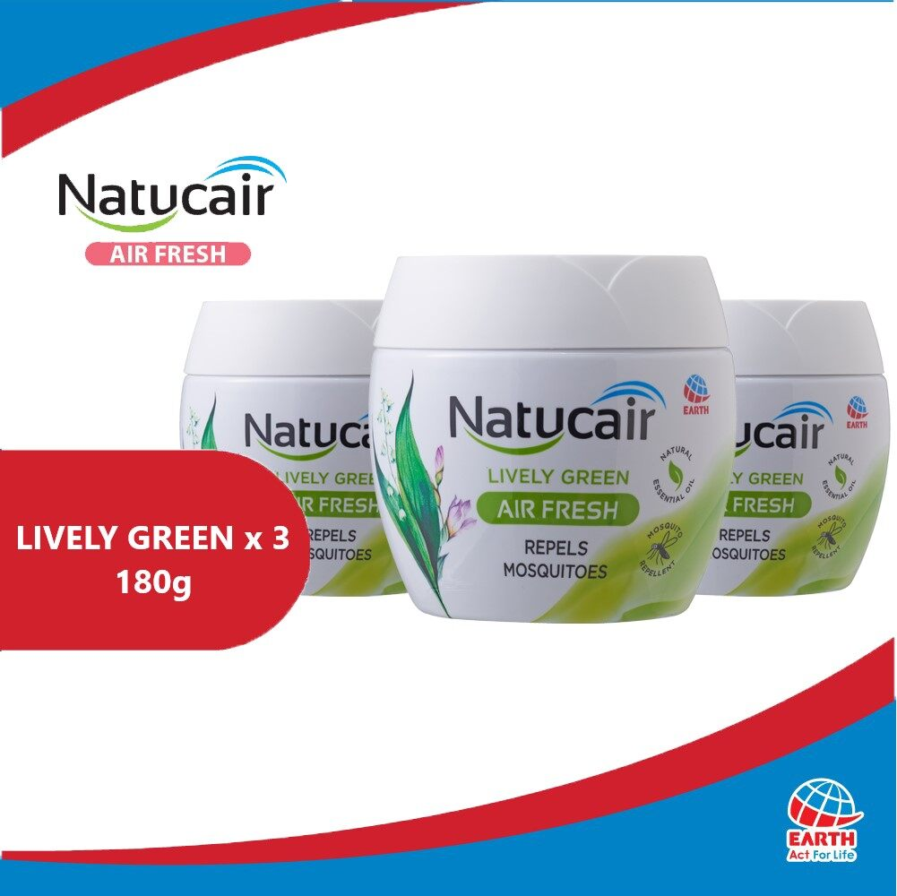 Natucair Air Fresh Mosquito Repellent Gel Assorted Variants Bundle of 3 [180g x3]EHB000013h