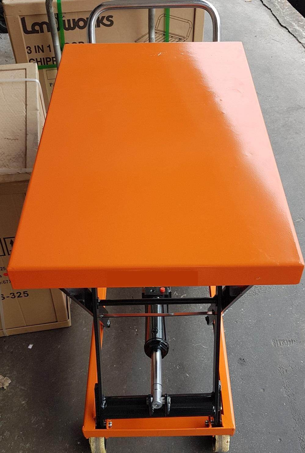 350 kg 1 year warranty 1300 mm height table jack lift lifter lifting hydraulic oil pump level top portable wheel roller roll tire handle heavy trolley car up truck push high tall pull scissor top fold driver extend rise transport steer carrier carry load