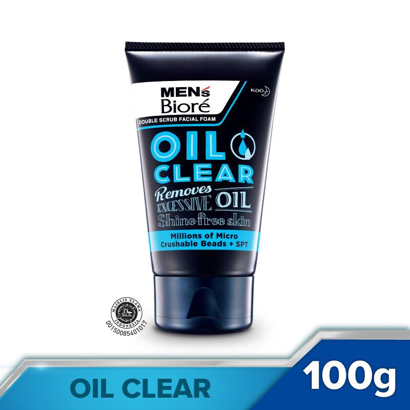 Men's Biore Double Scrub Oil Clear