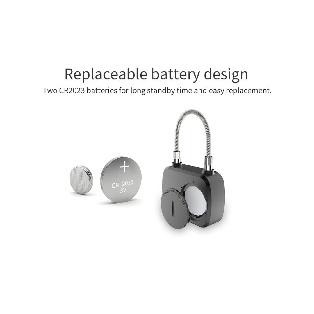 Chains & Locks - Smart Biometric Padlock Fingerprint Keyless Door Lock USB Charging Anti-theft - Home Improvement