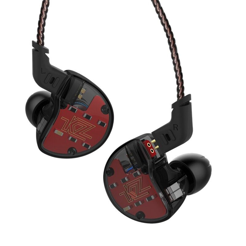 On-Ear Headphones - KZ ZS10 HiFi 10 Drivers 4BA+1DD Hybrid Earphone Headphone - BLACK MIC / RED / RED MIC / BLUE / BLUE MIC / BLACK