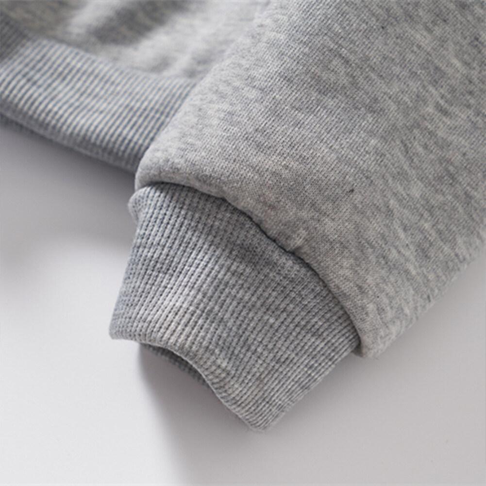 Unisex Fashion Long Sleeved Blouses Plush Round Collar Tops