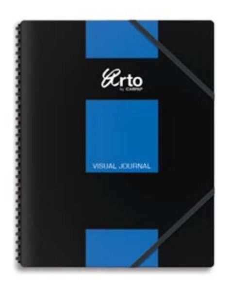 CAMPAP-ARTO CR36140 WIRE-O PP COVER VISUAL JOURNAL NOTEBOOK 60's 250x330mm x 1pc