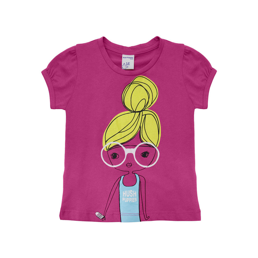 Hush Puppies Catalina Girl Round Neck Tee  HGT672329