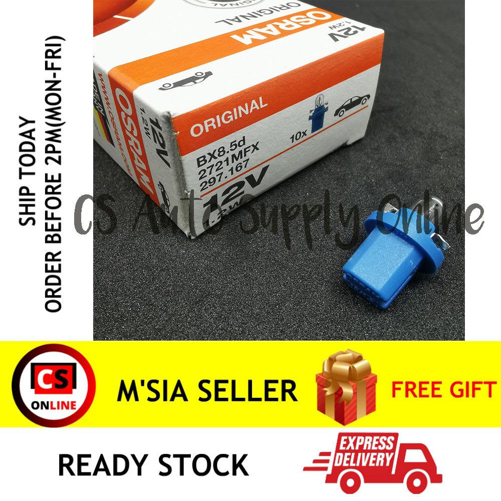 [Ready stock] Osram 12V Car Meter Bulb Bx8.5d 1.2W for Switch Interior Light Instrument Lighting Dashboard Lamp (1pc) CS