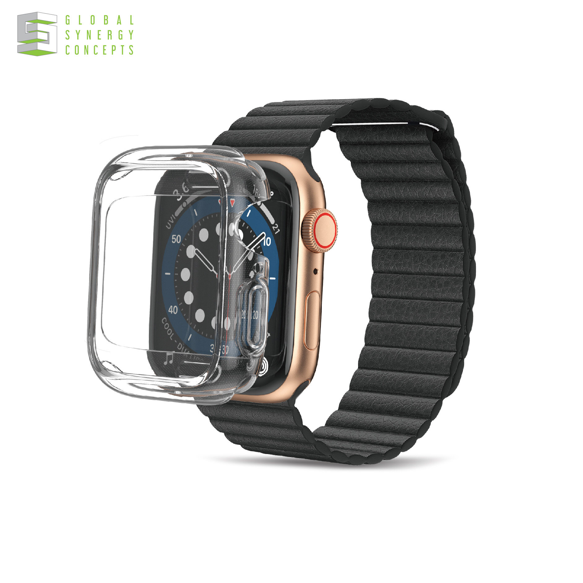 AMAZINGthing CASE Anti-bacterial Outre Drop proof for AppleWatch Series 6 & SE 40mm