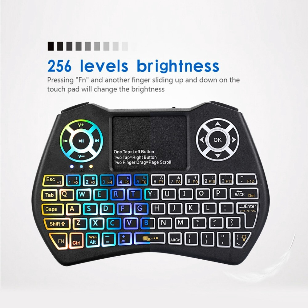 Keyboards - I9 Plus MINI 2.4GHz Keyboard With Touchpad Remote Control Colorful Backlight Fly Air - Computer Accessories