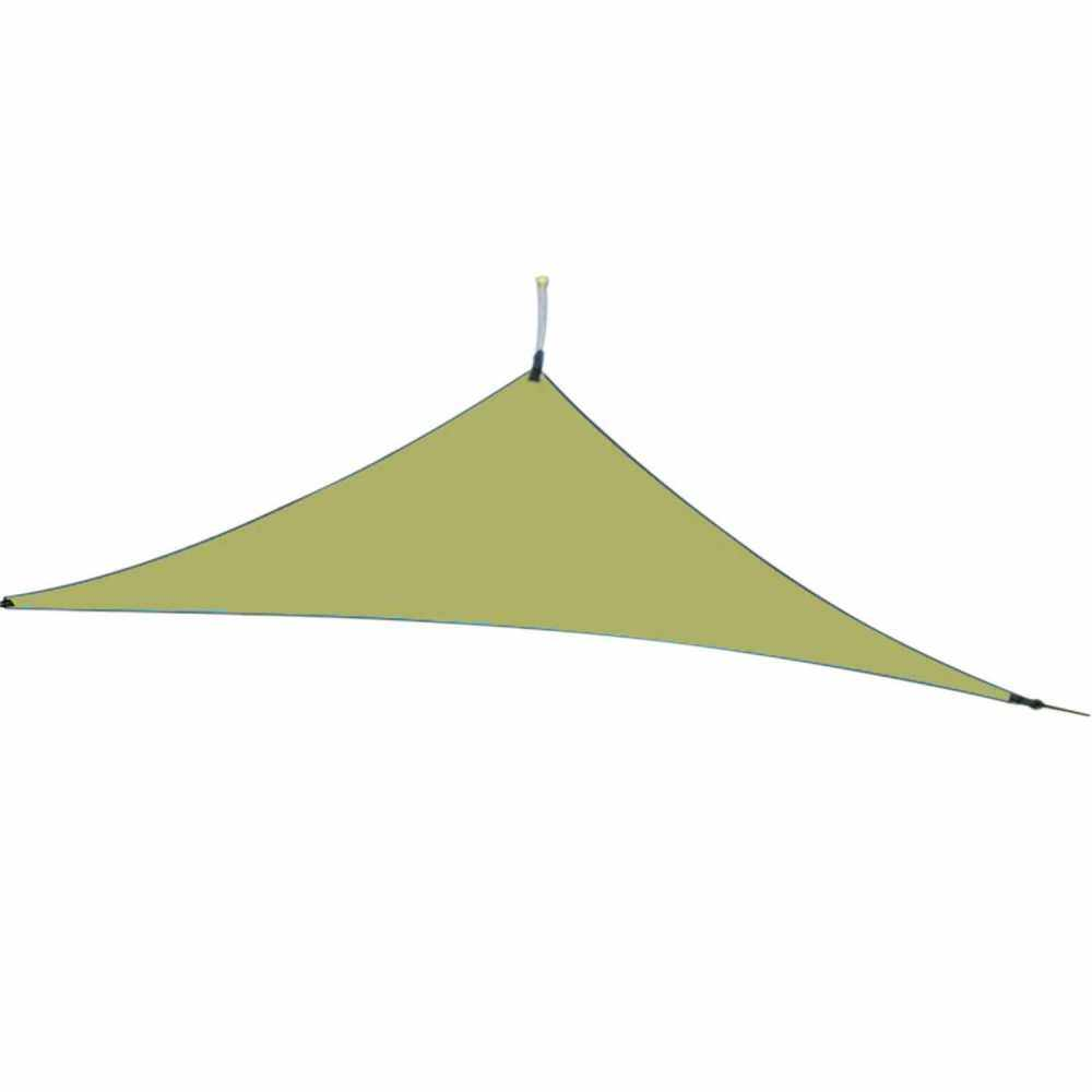 13ft Rain Fly UV Resistant Sun Shade Sail Canopy Waterproof Heavy Duty Triangle 210T Polyester Awning Sand Sunshade for Outdoor Patio Garden Backyard Activities (Army Green)