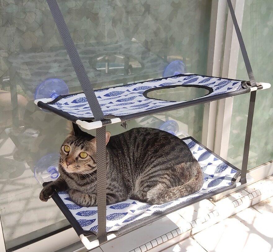 (NEET NEKO) Window Double Tracker Hammock for Cats
