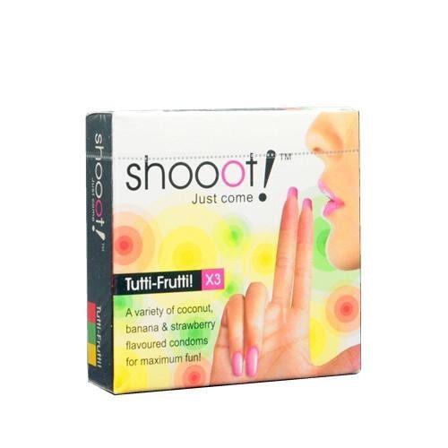 SHOOOT Condom 3's - Tutti Fruitti