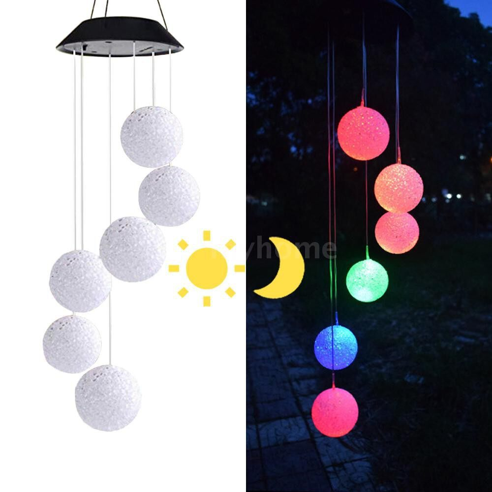Outdoor Lighting - Solar Energy Powered Wind Chime Lamp Color-changing Particle Ball Waterproof Outdoor Garden Street - TYPE 3 / TYPE 2 / TYPE 1