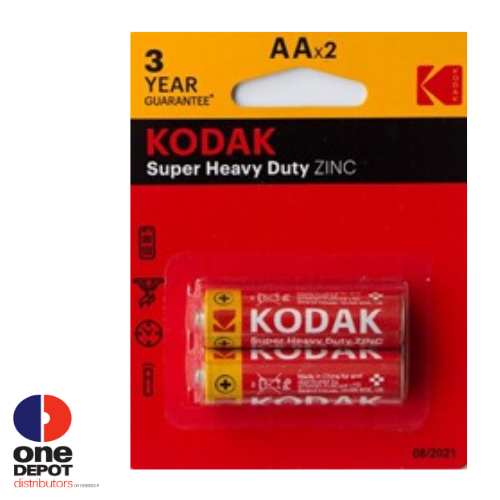 KODAK Super Heavy Duty Zinc AA Batteries (2pcs)