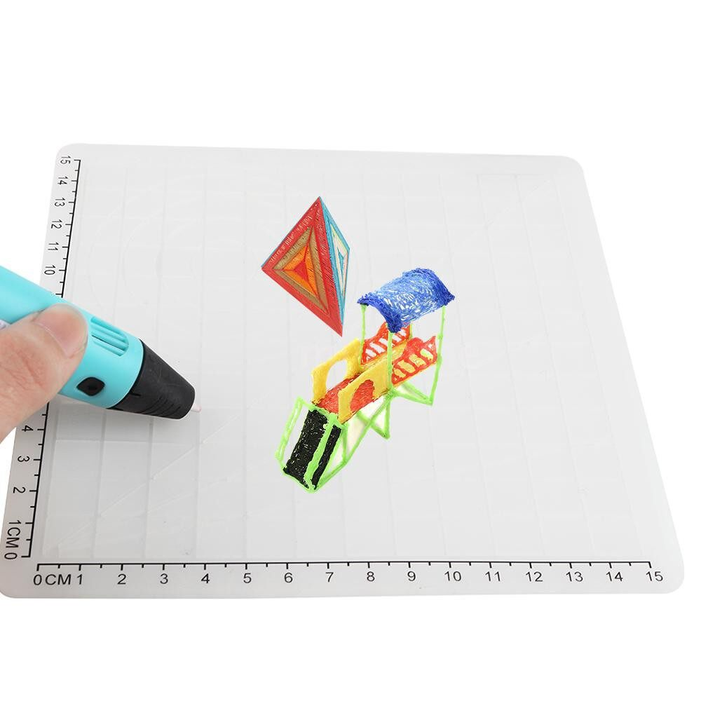 Printers & Projectors - 3D Printing Pen Design Mat Soft Silicone Copy Templates with Basic Shapes Extra Two Silicone Finger - WHITE-TYPE D / WHITE-TYPE C / WHITE-TYPE B / WHITE-TYPE A / WHITE-TYPE A&B&C&D
