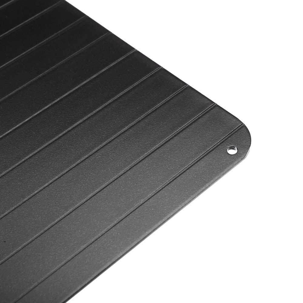 Defrosting Tray To Defrost Meat Or Frozen Food - S(23cm) & L(29.5cm) Black
