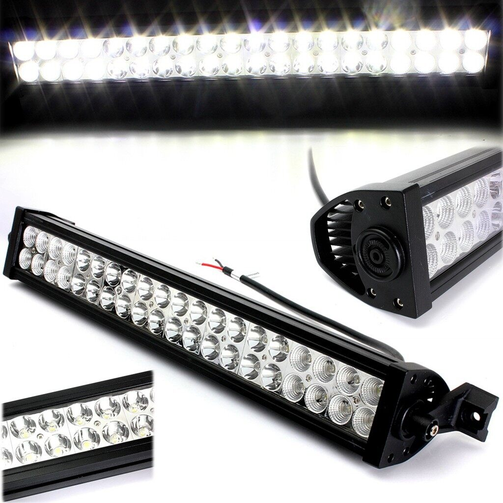 Car Lights - 120W 12V 24''LED Work Bar Light Alloy Spot Flood Combo Driving OffRoad Boat Lamp - Replacement Parts