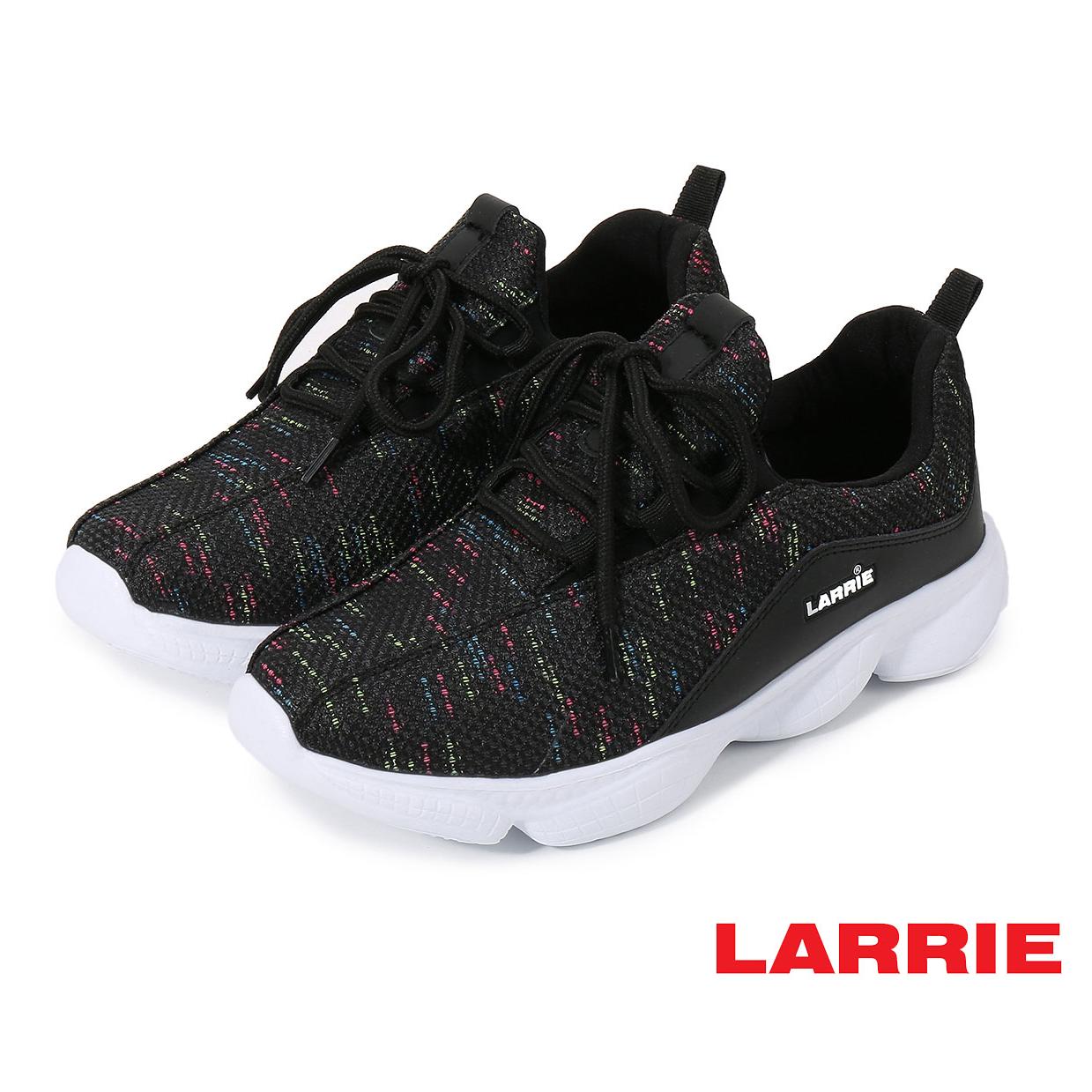 Larrie Black Lace Up Lightweight Sporty Sneaker - L61915-KN01SV-1