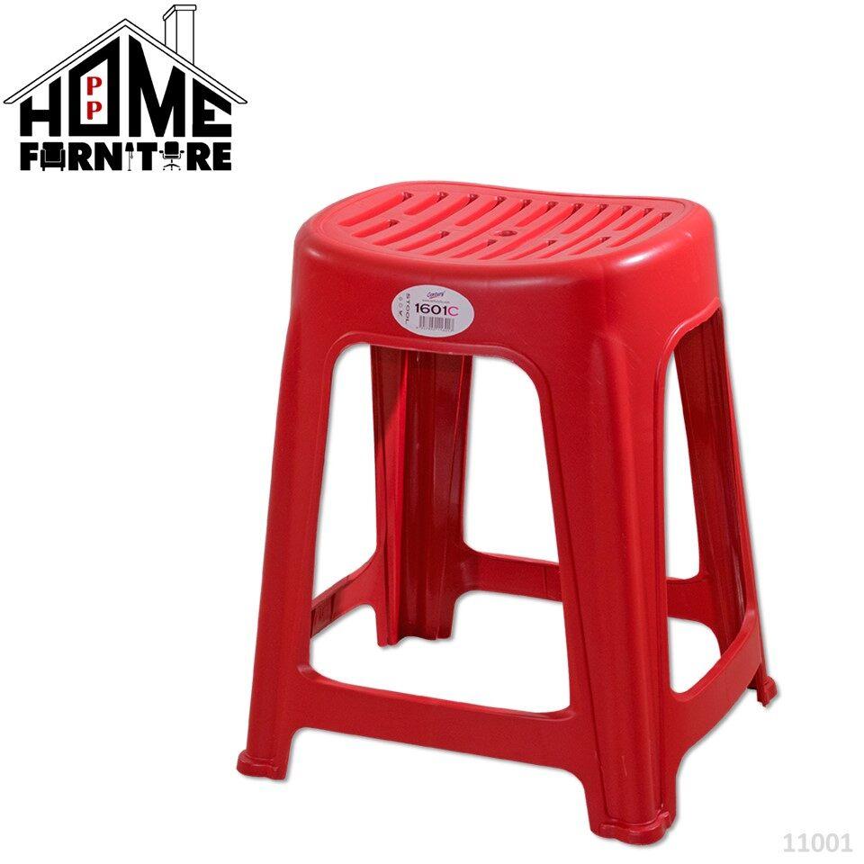 PP HOME Plastic stool chair/ stacking chair Kerusi plastik 塑料椅 Shu liao yi11002