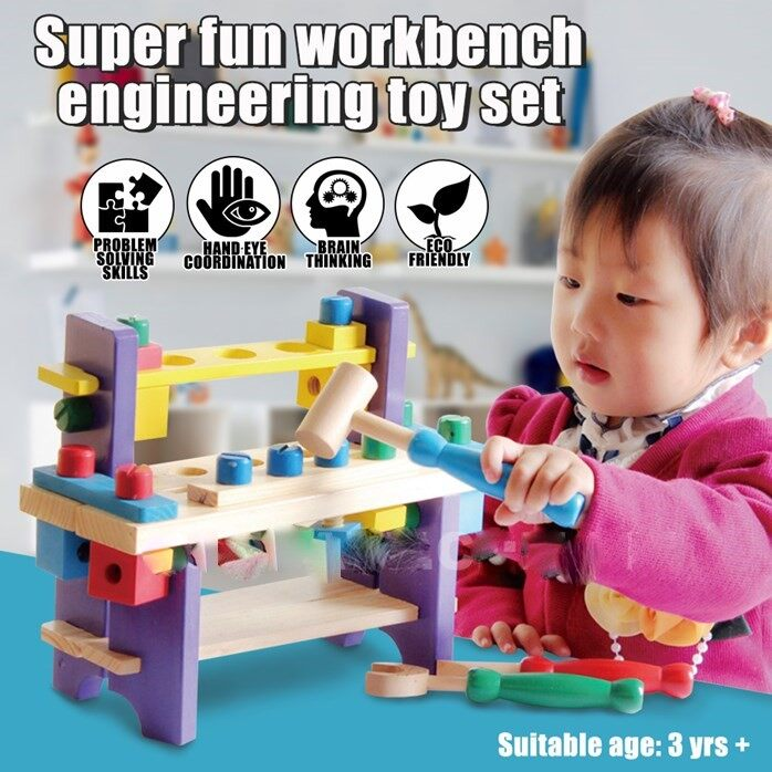 KIDS TOOL TABLE WOODEN