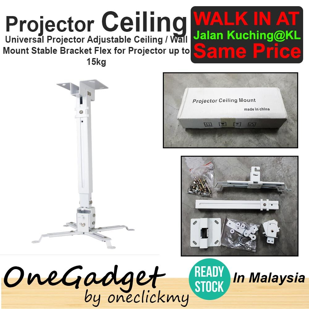 [?READY STOCK IN MALAYSIA]Universal Projector Adjustable Ceiling / Wall Mount Stable Bracket for Projector up to 16kg
