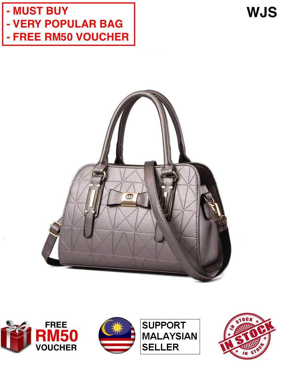(VERY POPULAR BAG) WJS Ohanel Channel Women Handbag Premium Branded Handbag Hand Bag Quality Fashion Handbag with Premium Material Handbeg Bag Perempuan MULTICOLOR (FREE RM 50 VOUCHER)
