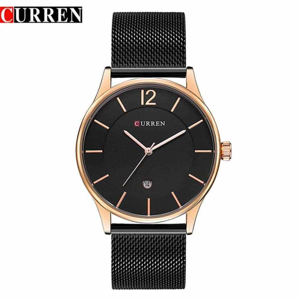 CURREN 8231 Men Quartz Watch Luxury Full Steel Band Waterproof Male Date Clock (Golden)
