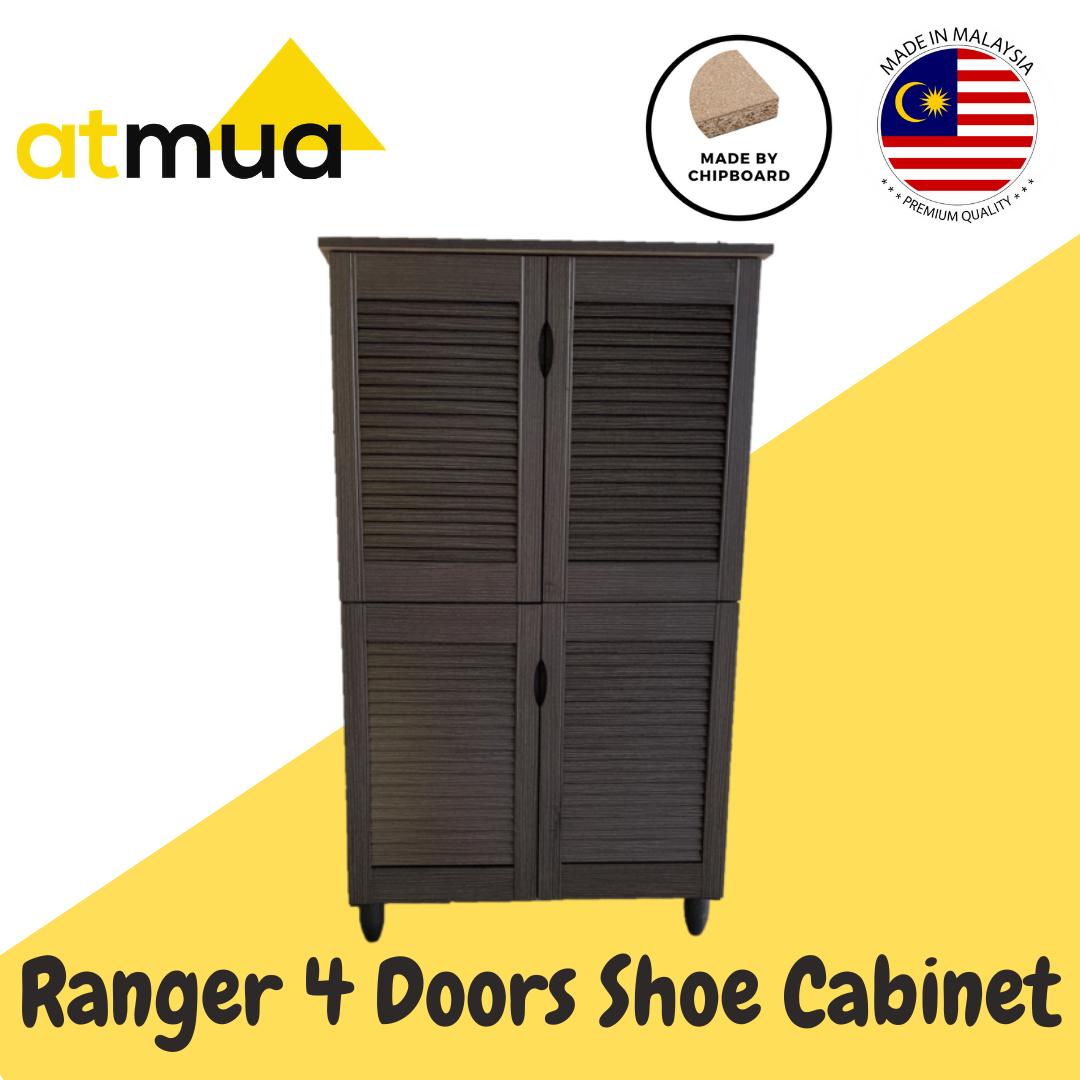 Atmua Ranger 4 Door Shoe Cabinet with Louver Door