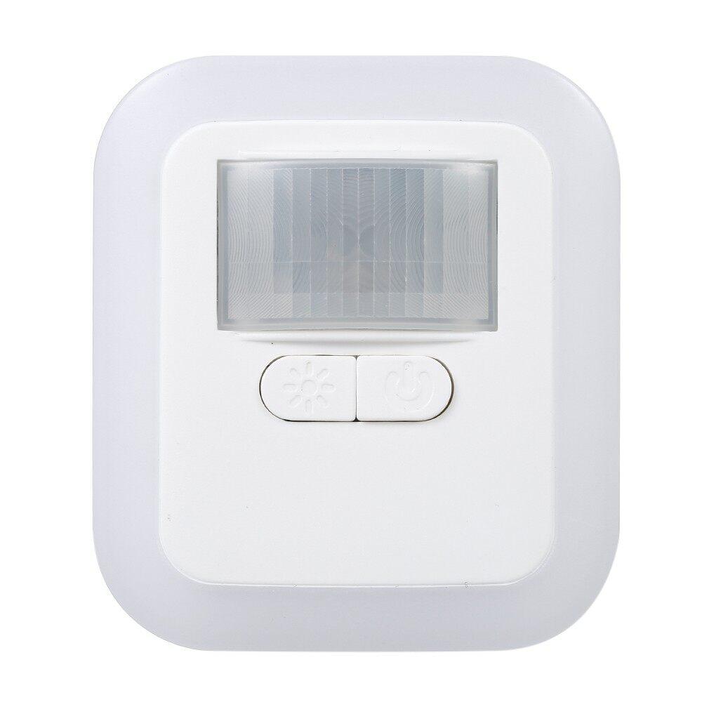 Lighting - LED Plug-in Motion Sensor Light Wall Night Lamp with Brightness & 30s/60s/90s/12 - Home & Living