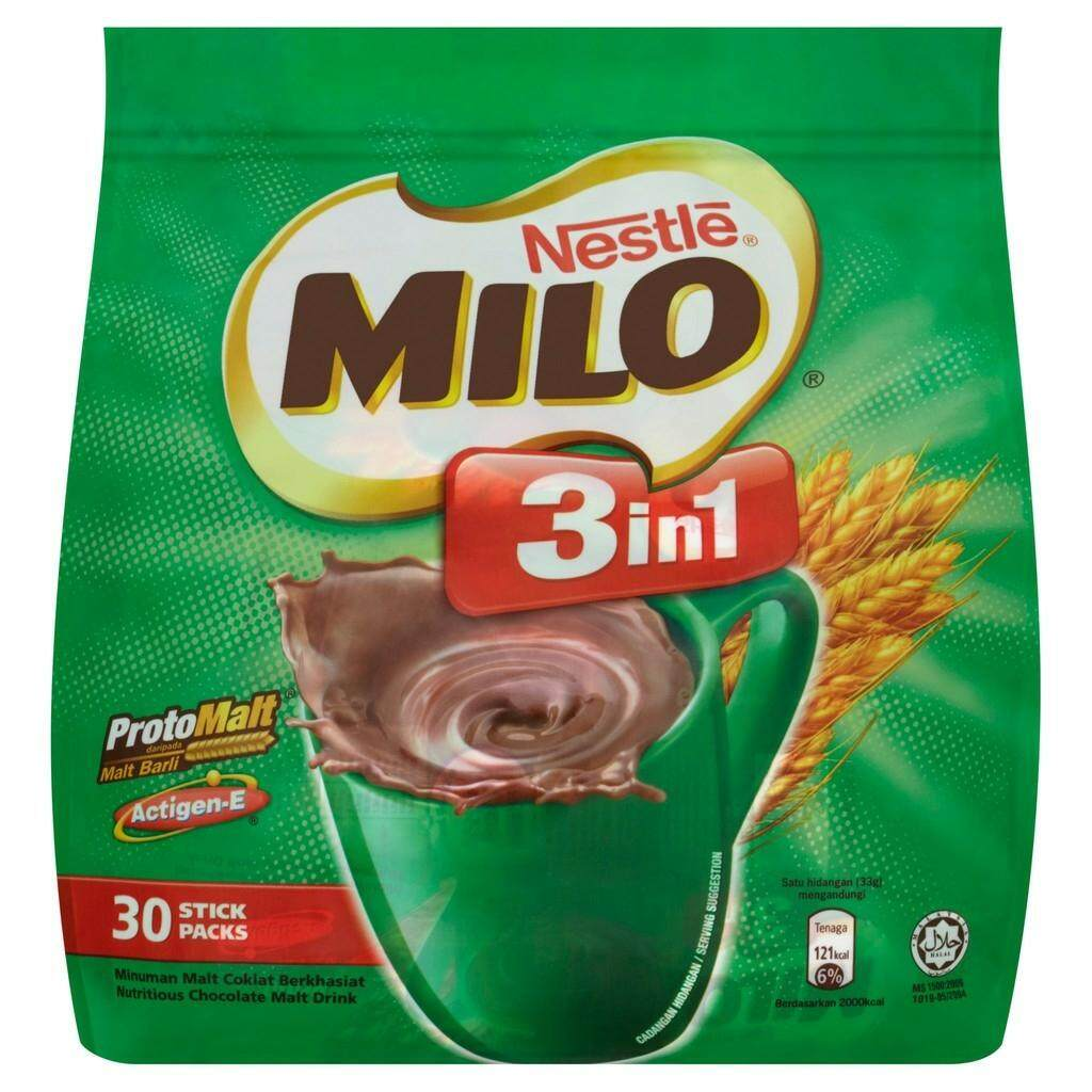 Nestle Milo 3in1 Chocolate Milk Drink (30 x 33g) READY STOCK