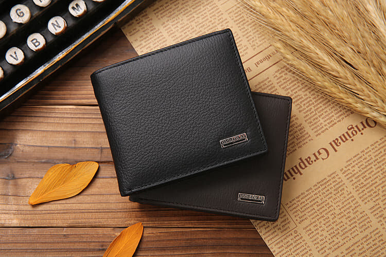 [M'sia Warehouse Direct] 100% Cowhide Full Leather 2020 Korean Series Men's Fashion Wallet Bi-Fold Fengshui Wallet Perfect Gift (Can request Box) Clutch Card Coins Cash Slot With Zip Portable Hand Carry Bag Top Material Genuine Dompet Kulit Lelaki